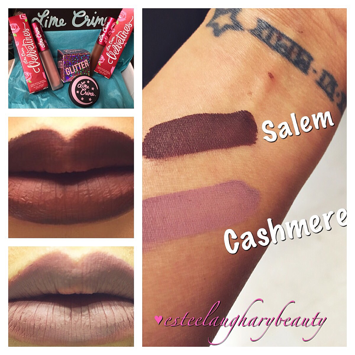 LimeCrime Velvetine Review (Salem and Cashmere) | Estee Laughary Beauty